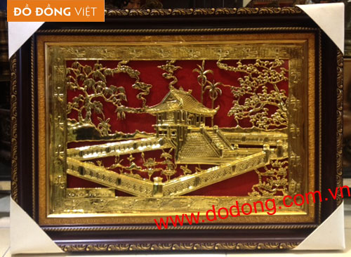 Tranh đồng chùa một cột mạ vàng – Tranh đồng mạ vàng0