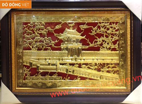 Tranh khuê văn các 50,70cm mạ vàng đẹp – Tranh mạ vàng
