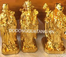 Bộ tam đa mạ vàng 24k cao 20cm