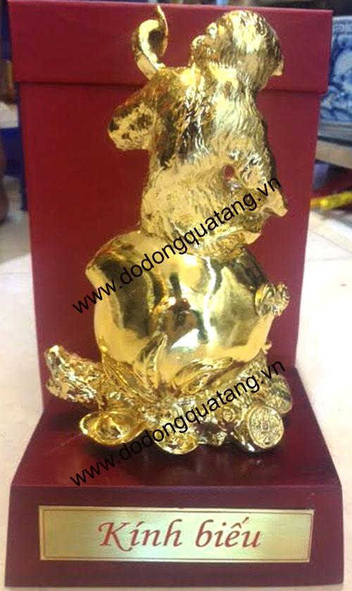 quà tặng khỉ mạ vàng phong thủy