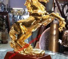 Ngựa đồng,ngựa mạ vàng,cửa hàng bán ngựa dát vàng 24k