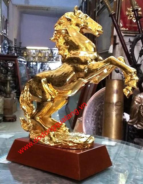 Ngựa đồng,ngựa mạ vàng,cửa hàng bán ngựa dát vàng 24k0