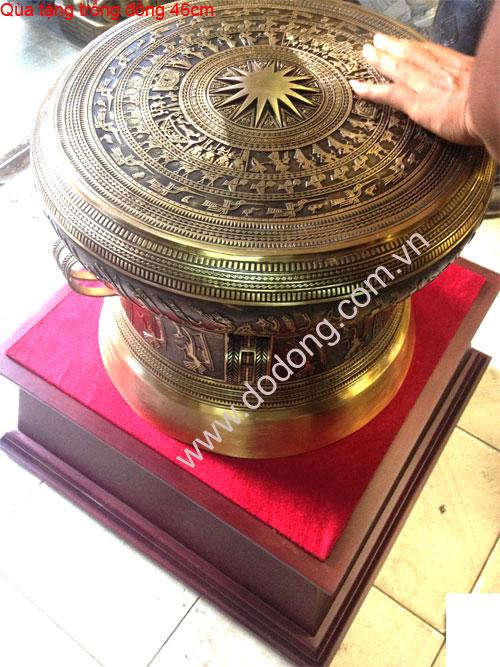 Trống đồng 46,quà tặng trống đồng đường kính 46cm tang trống 38cm