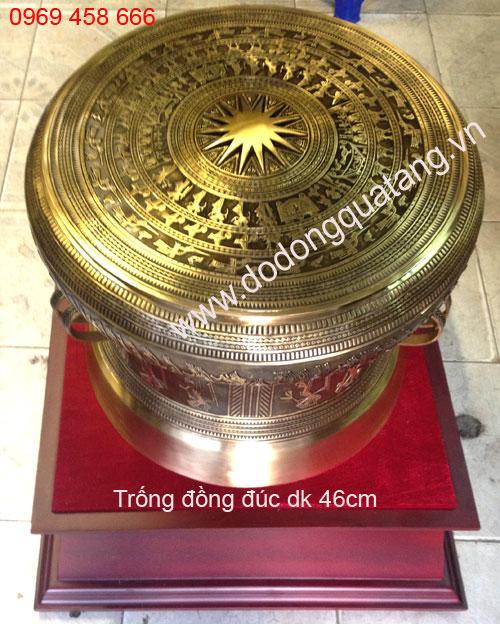 quà tặng trống đồng đúc lưu niệm 46cm
