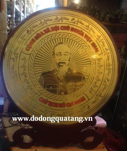Biểu trưng gỗ đồng khắc chân dung Hồ Chí Minh0