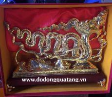 Qùa tặng rồng lý mạ vàng vàng 38cm