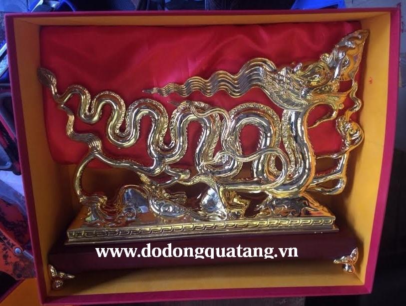 Qùa tặng rồng lý mạ vàng vàng 38cm0
