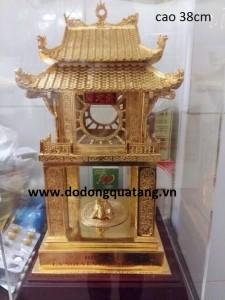 Tượng đồng Văn miếu Quốc tử giám 40cm mạ vàng