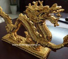 Tượng rồng mạ vàng,linh vật rồng dát vàng