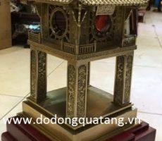 Tượng khuê văn các đúc đồng đế gỗ hương 40cm