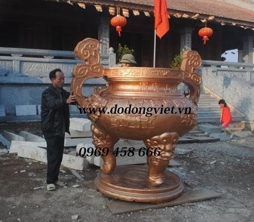 Các mẫu lư hương đồng cúng dường,công đức đền thờ
