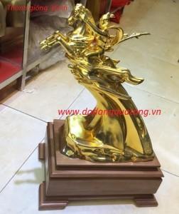 Tượng vàng thánh gióng đúc đồng mạ vàng 36cm