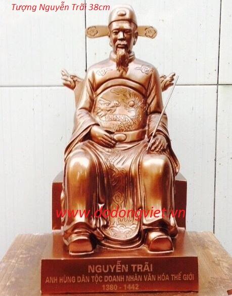 Tượng đồng Nguyễn trãi đúc đồng đồng 38cm