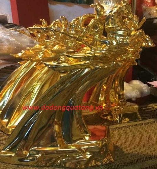 Tượng vàng thánh gióng 36cm Vinh quang Việt nam0