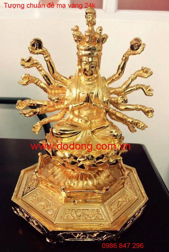 bộ tượng chuẩn đề thếp vàng