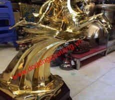 Quà tặng thánh gióng cao 60cm mạ vàng