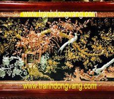 Cách treo tranh đồng chạm vinh hoa phú quý phòng khách