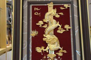 Tranh rồng phú quý cao cấp khung 80×120 cm