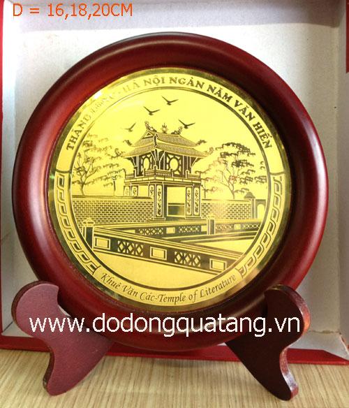 Đĩa đồng Khuê Văn Các nhiều kích thước dành tặng đối tác nước ngoài