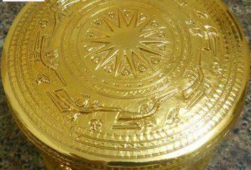 Qùa lưu niệm – Trống đồng mạ vàng – Khuê Văn Các