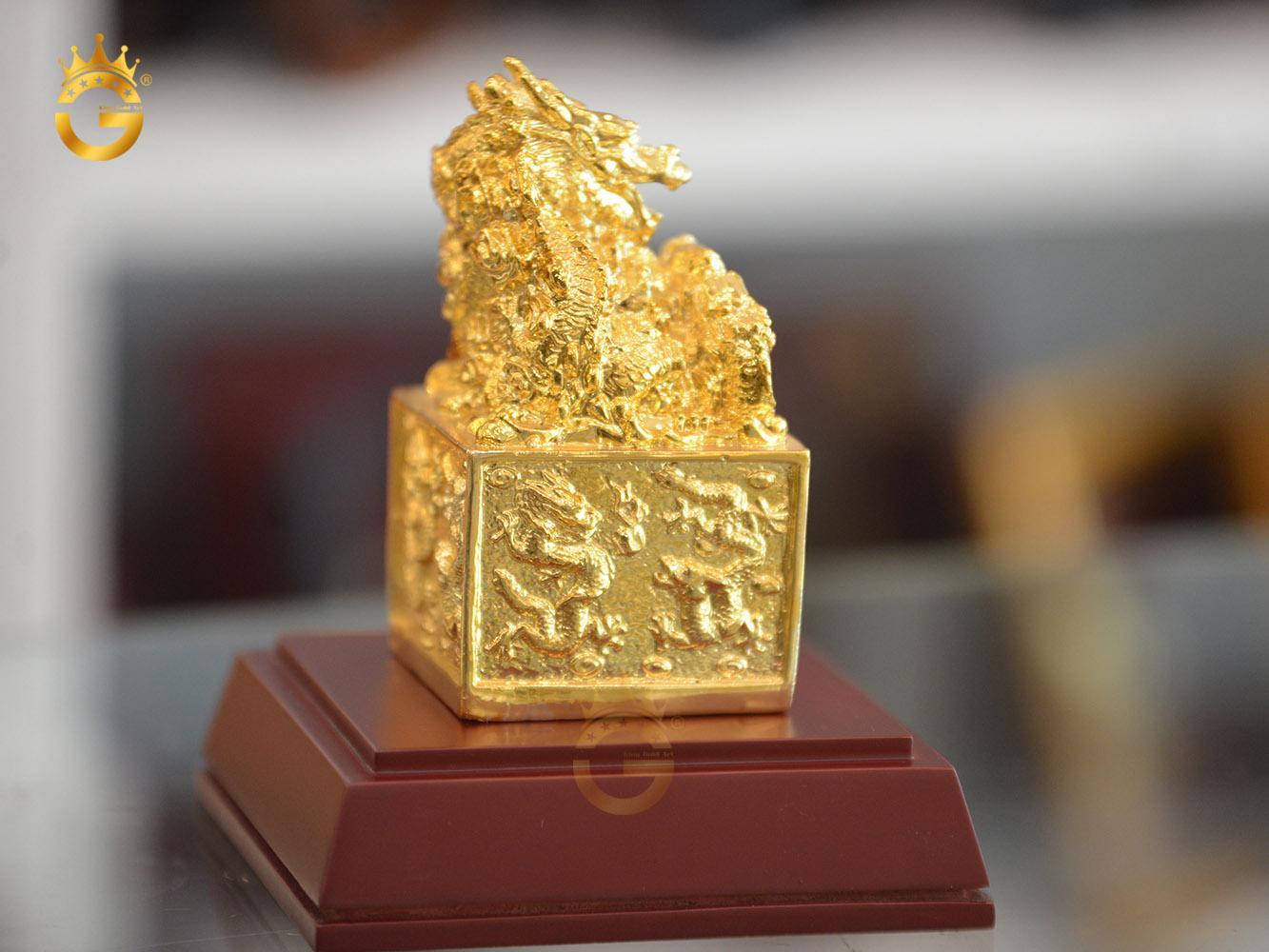 Ấn rồng mạ vàng 24k- quà tặng sếp thăng chức0