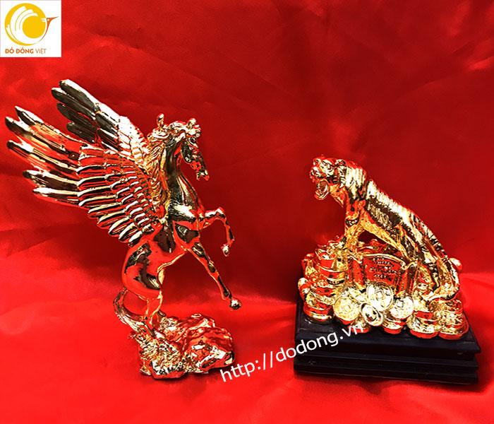 tượng đồng mạ vàng,linh vật phong thủy mạ vàng