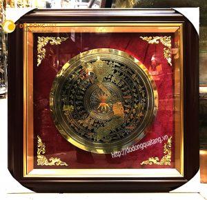 Tranh trống đồng khắc bản đồ Việt nam và địa danh