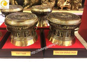 Trống đồng quà tặng, bán trống đồng lưu niệm làm quà tặng khách nước ngoài