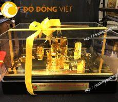 Mô hình tổng mặt bằng bệnh viện 108 bằng đồng mạ vàng 24k
