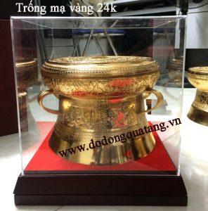 Trống đồng mạ vàng 24k làm quà tặng lưu niệm ý nghĩa