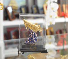 Quà Tặng Sếp- Tượng Cá Rồng Phong Thủy Mạ Vàng 24k