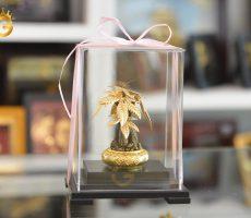 Quà tặng phong thủy cây kim ngân dát vàng 24k