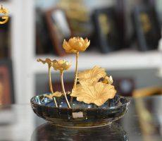 Chậu hoa sen mạ vàng 24k- biểu tượng quốc hoa Việt Nam