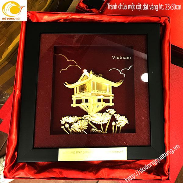 Tranh dát vàng 24k cũng là sản phẩm tiêu biểu của Đồ đồng việt