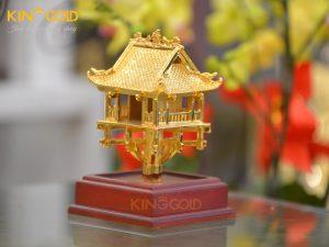 Chùa Một Cột mạ vàng- quà tặng lưu niệm đối tác nước ngoài ý nghĩa