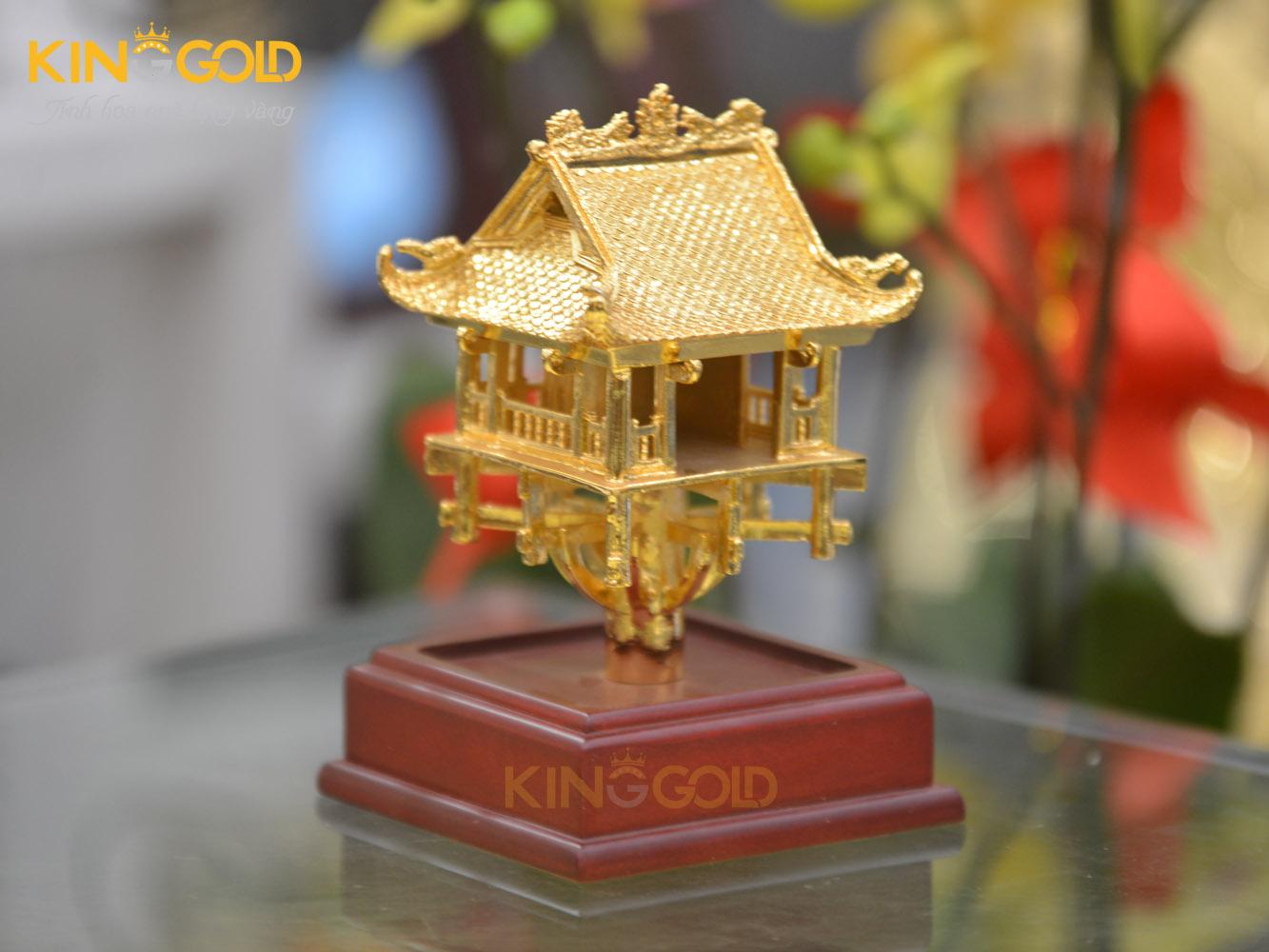 Chùa Một Cột mạ vàng 24k cao cấp- quà tặng sự kiện ý nghĩa0