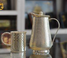 Bộ bình uống nước bằng đồng mạ bạc