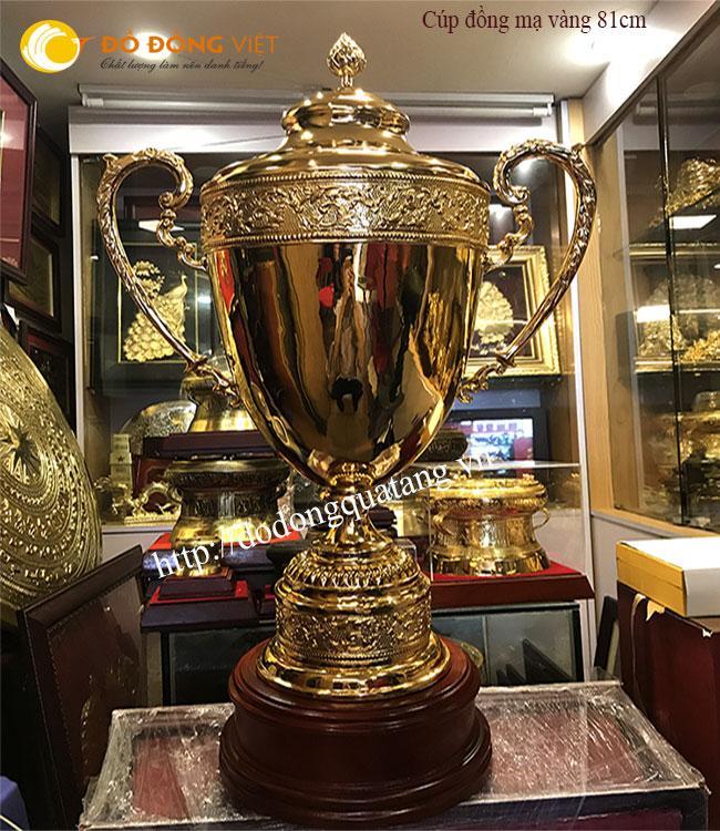 Cúp bóng đá chuyên nghiệp,cúp thể thao bằng đồng mạ vàng 24k0