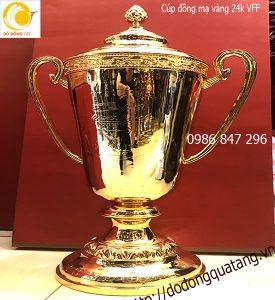 Cúp bóng đá VFF Thiên thanh bằng đồng mạ vàng 24k cao 60cm
