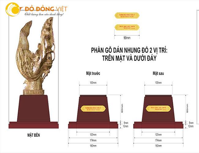Đầu rồng thời lý làm quà tặng,ủy ban nhân dân Tỉnh Bắc Ninh