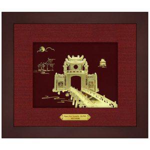 Tranh vang đền ngọc sơn 20×25 cm