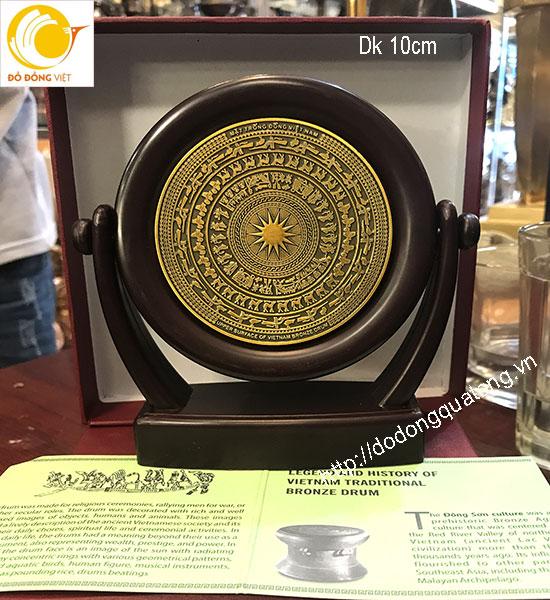 sản xuất đĩa đồng quà tặng về mặt trống cổ,mặt trống Việt nam cho khách nước ngoài
