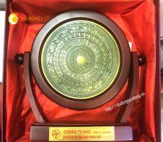 Đĩa mặt trống đồng cổ Việt nam,quà tặng đĩa soay trống đồng