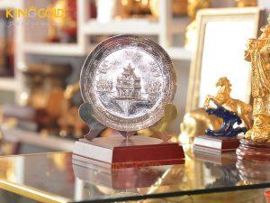 Đĩa đồng Hồ Gươm mạ bạc làm quà tặng sự kiện cuối năm