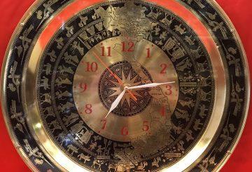 Đồng hồ bằng đồng, đồng hồ treo tường mạ vàng