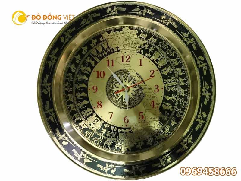 Trống đồng hồ bản đồ DDVDH 54 – Mặt đồng hồ treo tường0