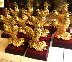 Tượng mạ vàng gà trống làm đồ trang trí,biếu tặng