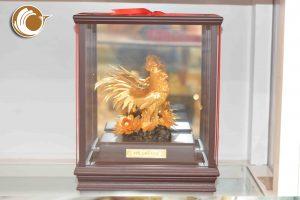 Gà trống dát vàng 24k- quà tặng phong thủy, quà tặng Sếp