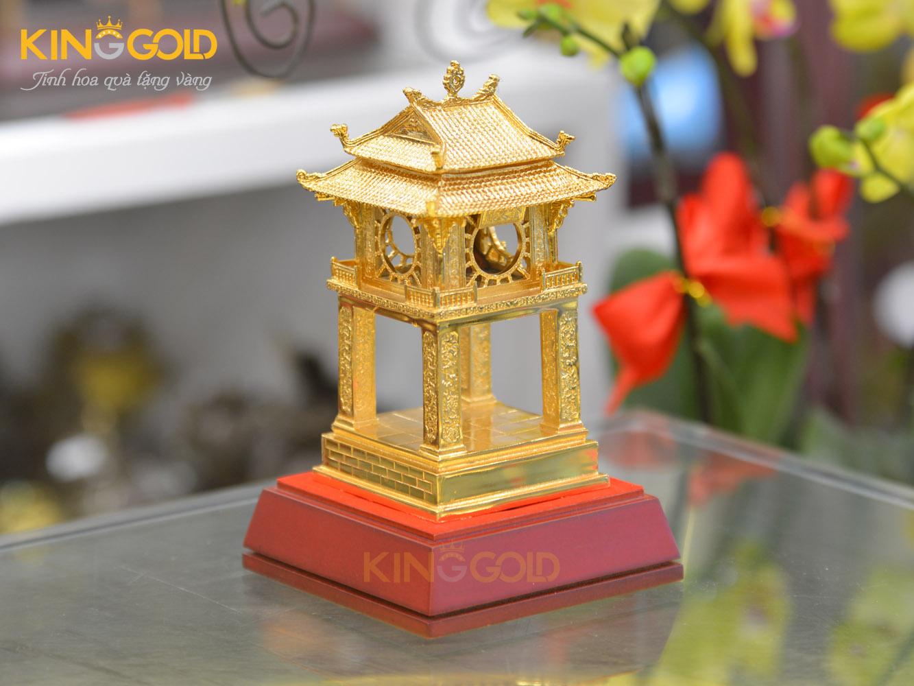 Quà tặng mô hình Khuê Văn Các mạ vàng 24k0