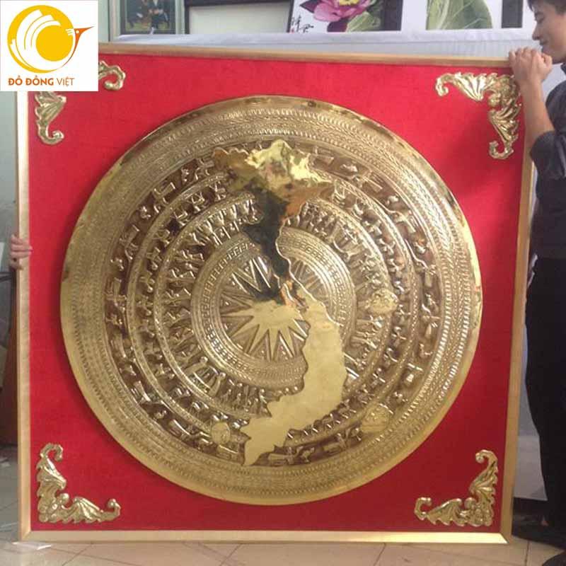 Tranh trống đồng, địa chỉ mua bán tranh mặt trống đồng mạ vàng tại Hà Nội0